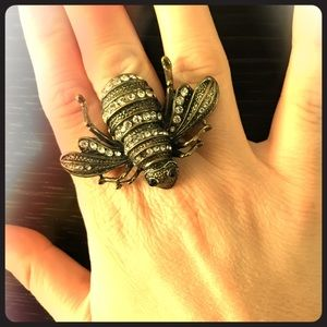 Insect statement/cocktail ring